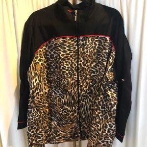 Alia 3X Leopard full zip Jacket